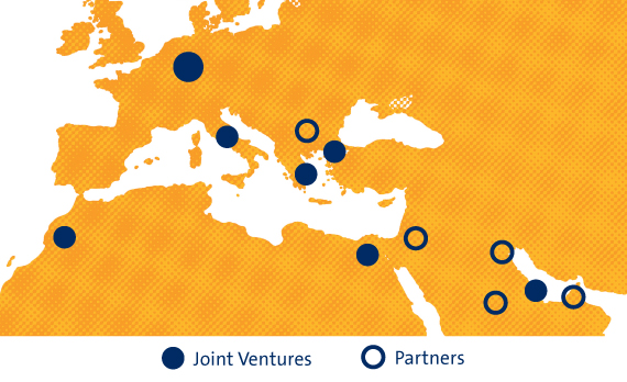 Map of Joint Ventures and Partners